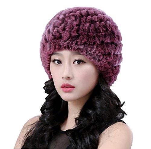 Chica Color c Ahatech Tejido Sombrero Suave Chapka Mujer Elegante Invierno Lujo 5p6wq7R