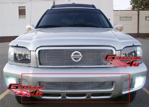 APS N65360A Polished Aluminum Billet Grille Bolt Over for select Nissan Pathfinder Models