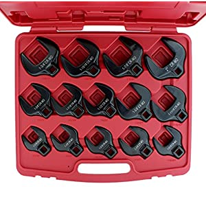 "ABN Crowfoot Wrench SAE Standard 1/2"" Inch Drive 14-Piece Set for When Regular Sockets/Wrenches Won't Get the Job Done"