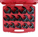 """ABN Crowfoot Wrench SAE Standard 1/2"""" Inch Drive 14-Piece Set for When Regular Sockets/Wrenches Won't Get the Job Done"""