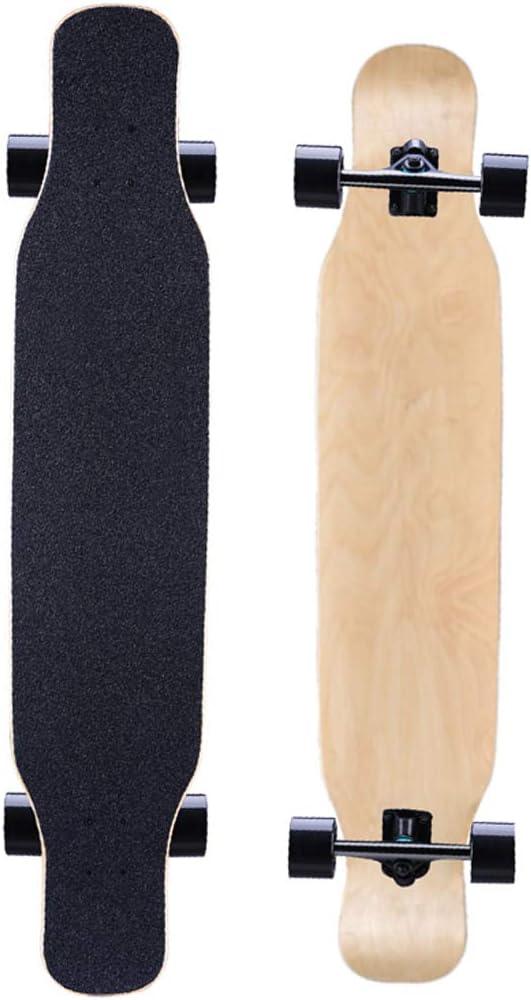 スケートボード46インチx 9インチスケートボードコンプリートロングボードダブルキックスケートボードクルーザー用エクストリームスポーツと屋外 #1