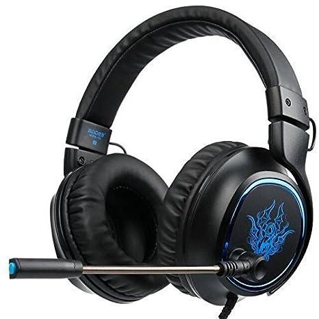 2017 Nuevo SADES R5 Multi-Platform Auriculares Gaming, 3.5mm Gaming auriculares con micrófono