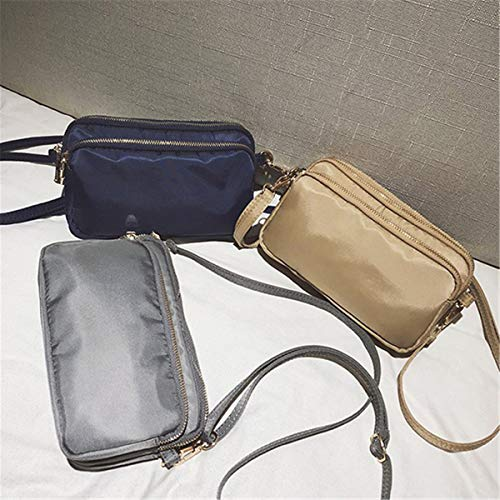 Mensajero Crossbody Las de Bolsillos de Multi de Celular Monedero de Caqui Bolso teléfono Nylon JOSEKO Mujeres Viajar para del Bolsa qC7wnt