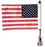 Pro Pad Fixed 1/2 Tour Pack Flag Mount W/6 X 9 Flag for Harley