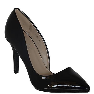 Extravaganter klassischer Damen Lackschuh von Kayla  Lack-Pump High Heel in 5 knalligen Trendfarben Rosa...