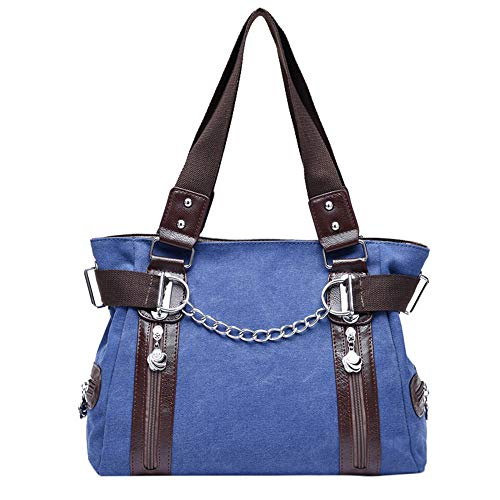 Impermeable Mochila Bolso Mujer Asas Hombro Estilo Bandolera De bolso Casual Moda Las Azul Señoras Oscuro Del Diseñador Comprador Ansenesna Nuevas YqBwgnxq