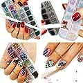 VAGA Nail Art Kit 3000pc Nail Salon Games Rhinestones For Nails 2 Box Sets And 1 White Nail Pen Rhinestone Picker Pencil, A Perfect Addition To Any Acyric Nail Kit Manicure Set Or Nail Stamping Kits
