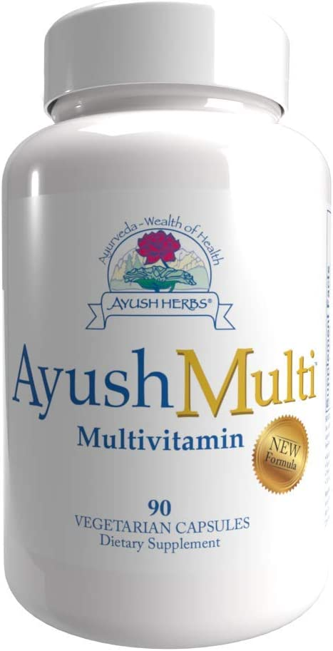 Ayush Herbs Multi (Multivitamin), Optimal Nutrition, Vitamins, Minerals, Anti-Oxidants and Minerals in a Massive Formulation, Activated B Vitamins, Black Pepper Extract and Bioflavonoids, Chelated Minerals for Maximum Absorption, Doctor Formulated & Recommended, 90 Count