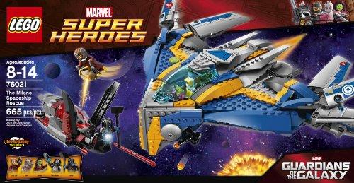 Amazon.com: LEGO Superheroes The Milano Spaceship Rescue Building ...