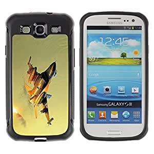 LASTONE PHONE CASE / Suave Silicona Caso Carcasa de Caucho Funda para Samsung Galaxy S3 I9300 / Modern fighter