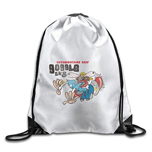 Skate Boarding Cool Large Print Gym Drawstring Bags Shoulder Sport Portable Sack String Bags Lightweight Travel Backpack Tote Cinch School Rucksack