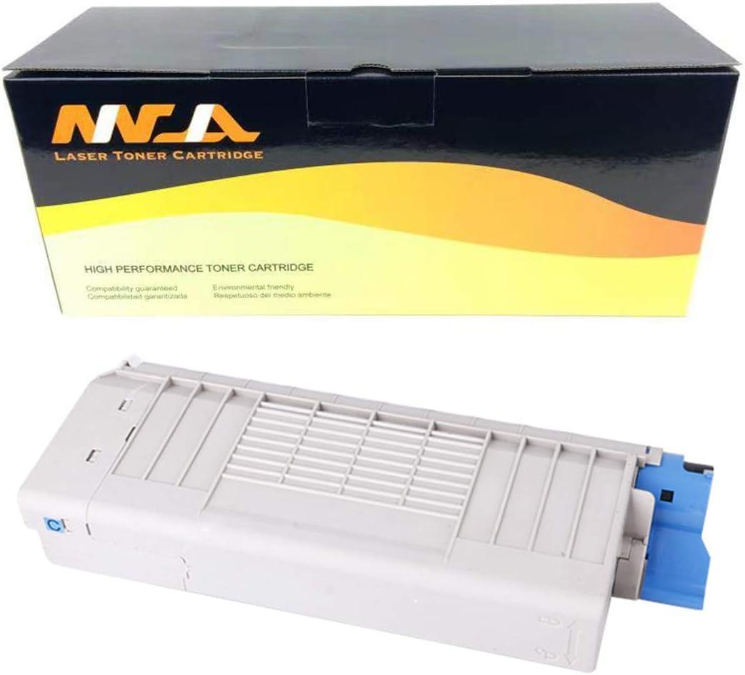 Cyan 11,500 Pages 43866103 Ninjatoner Compatible Toner Cartridge Replacement for Oki C711 C710 C710N C711DN C711N