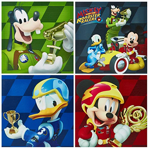 Disney NK320642 Mickey Mouse Wall Art (4 Piece), Multicolor -