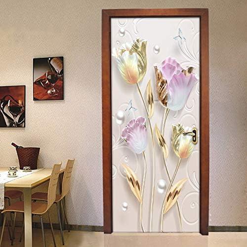 PYUK 3D Estereoscópico Flores de Tulipán Etiqueta de La Puerta ...