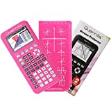 Guerrilla Silicone Case for Texas Instruments TI-84 Plus CE Color Edition Graphing Calculator With Screen protector and Graphing Ruler, Pink