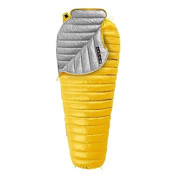 Yuyong Saco de Dormir, Bolsas de Dormir Ligero portátil de Invierno cálido Bien ventilado Impermeable Saco de Dormir con Saco de compresión,Yellow,200 ...