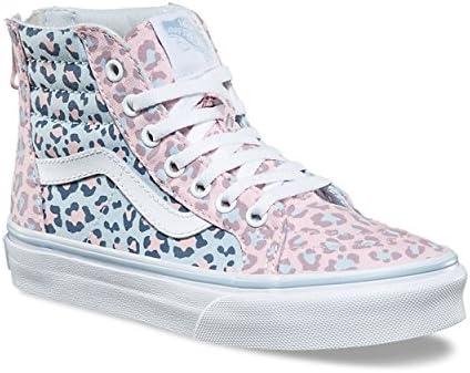 Vans Kids SK8 HI Zip Schuh 2018 2 Tone Leopard Chalk pinkBaby Blue