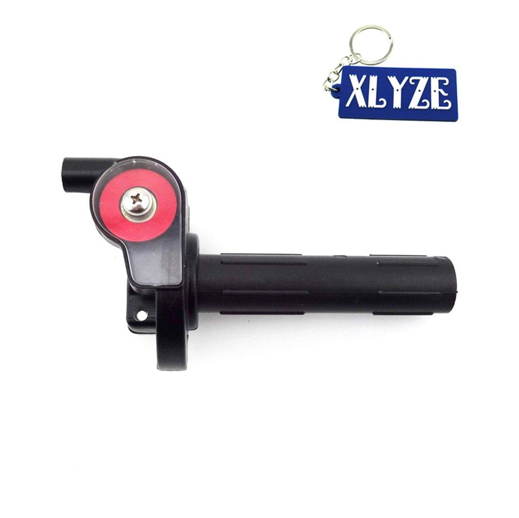 XLYZE Quarter 1/4 Turn Twist Throttle for Chinese 50cc 110cc 125cc 140cc 150cc 160cc Pit Dirt Bike Stomp Orion Thumpstar SSR