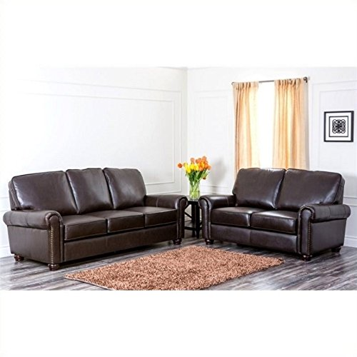 Bliss Leather Sofa and Loveseat ()