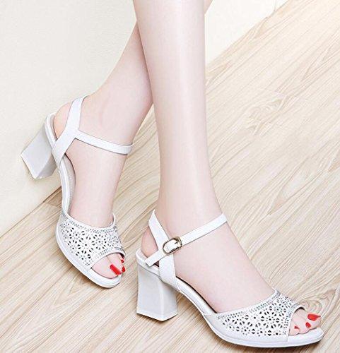 Nuevo Sandalias Estilo Altos Boca Verano Mujeres Con De Tacones Coreanos El Silver Para Casuales Muyii Las Zapatos Gruesas Pescado zR4SxSqB