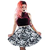 Folter Ghouls Skater Skirt White/Black