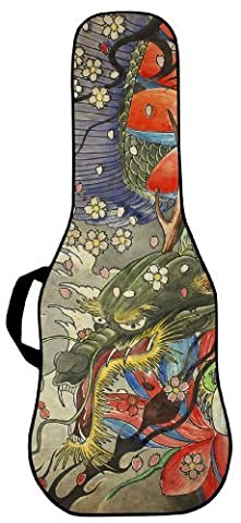 BOLDFACE Dragon Tapestry Electric Guitar Case. Printed panel is interchangeable (Acoustic Guitar Phitz)