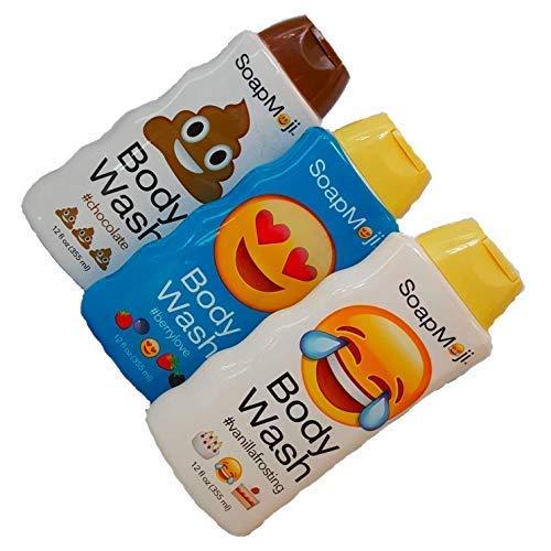 Frosting Chocolate Body - SoapMoji Emoji Body Wash Vanilla Frosting, berry and chocolate12 oz 3 count