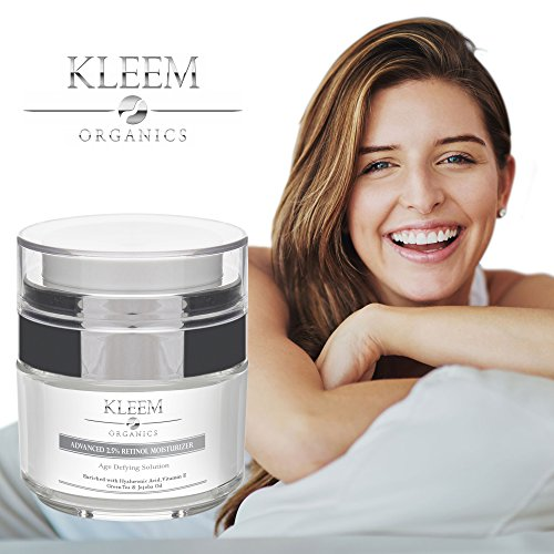Anti Aging Retinol Moisturizer Cream: for Face, Neck & Décolleté with 2.5% Retinol and Hyaluronic Acid. The Best Night Anti Wrinkle Cream for Men and Women - Results in 5 Weeks