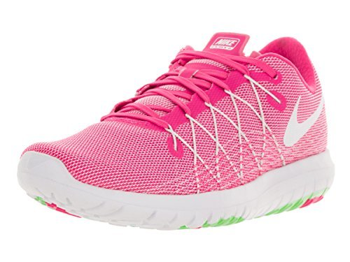 New Nike Women's Flex Fury 2 Running Shoe White/Black 10 by NIKE