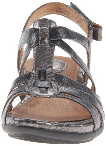 Clarks Mujeres de Tiffani ORIBEL sandalias de cuña gris