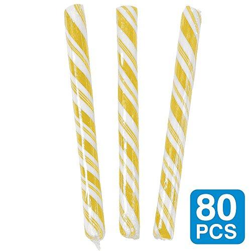 Fun Express Banana Yellow 534; Candy Sticks (80 Pack) - Party Supplies ()