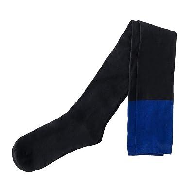 DOGZI Calcetines hasta la rodilla, Mujer Invierno Rodilleras Colorblock calcetines largos de tubo Muslo Calcetines altos Medias Calcetines por encima de la ...