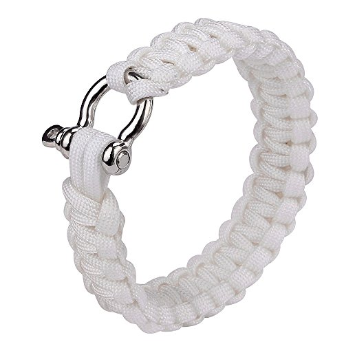 Glumes Survival Bracelet, Survival Paracord Bracelet, Survival Gear Kit for Camping, Climbing, Waterproof Gift for Boys