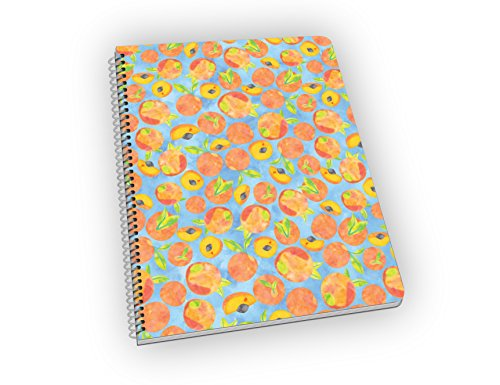 Peaches notebook, lined pages, spiral bound. Great gift!