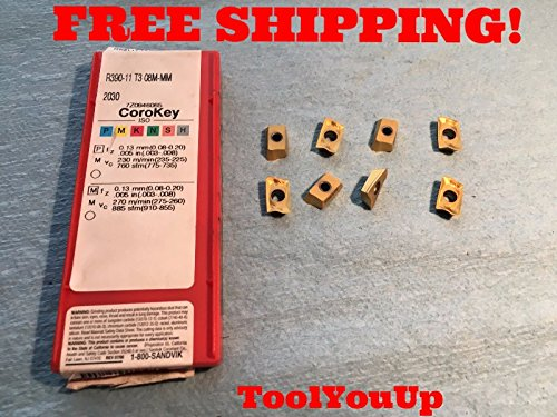8PCS NEW SANDVIK R390 11 T3 08M MM 2030 FACE MILLING INSERT CNC TOOLING MACHINE