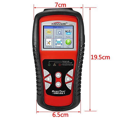 Areyourshop Konnwei KW830 OBDII OBD2 Car LCD Code Reader Data Tester Diagnostic Scan Tool by Areyourshop (Image #1)