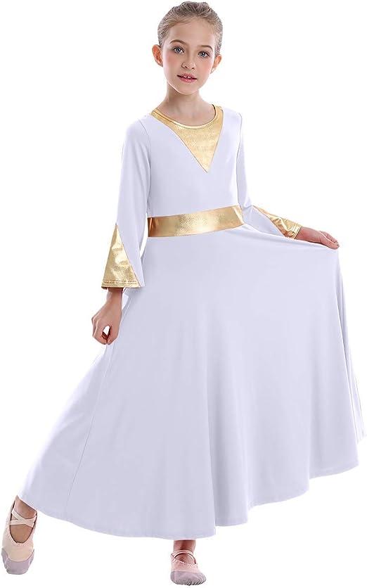 Liturgical Praise Dress Girls Leotard Dress Ballet Dance Tutu Skirt Dancewear