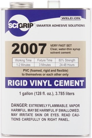 SCIGRIP Weld-On #2007 Adhesive, Gallon