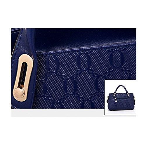 bolso Xagoo de charol fijó 4 en 1 bolsa de mensajero de las señoras llavero oso + Bolsa + Pequeño (Estilo 2) Estilo 3