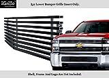 Fits 2015-2018 Chevy Silverado 2500HD Stainless Black Bumper Billet Grille #C66319J