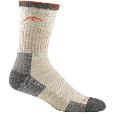 Darn Tough Vermont Men's Merino Wool Micro Crew Cushion Hiking Socks, Oatmeal, Large(10-12)