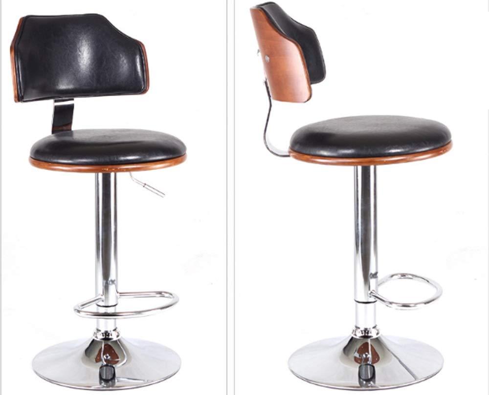AO-stools Bar Chair Bar Stool Stylish American Solid Wood Bar Chair Lift 60x40x17cm by AO (Image #6)