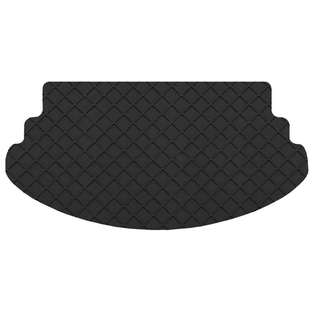 Trunk//Cargo S Flexomats All Weather Rubber Car Floor Mats for Aston Martin 06-17 Vantage Coupe Black Color