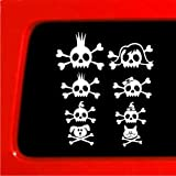 Skull Stick Figure Family Sticker - Vinyl Decal funny car truck laptop