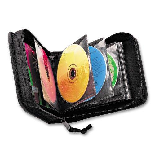 Case Logic CD/DVD Wallet, Holds 32 Disks, Black