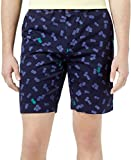 Tommy Hilfiger Men's 9in Pineapple Print Cotton Shorts 38W Peacoat Blue