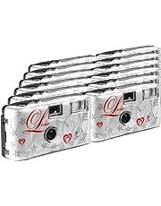 TopShot Love wit wegwerp camera/bruiloft camera (27 foto's, flits, 12 stuks)