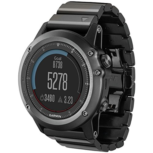 Garmin 010-01338-25 fnix Sapphire Performer GPS Watch + Heart Rate Black/Gray