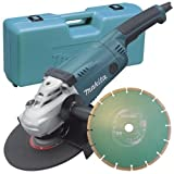 Makita GA9020KD 110 V 230 mm Angle Grinder with Diamond Blade in a Carry Case