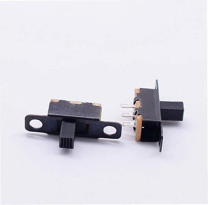 2 Posici/ón 3p Spdt Montaje En Panel Micro Interruptor Deslizante Interruptor con Bloqueo De Palanca 1pc